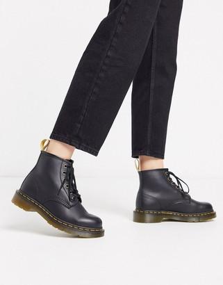 Dr. Martens Vegan 101 6 eye boots in black