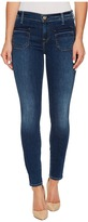 7 For All Mankind The Ankle Skinny w/ Front Released Pockets in Stunning Bleeker 3 Women's Jeans