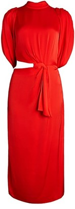 Johanna Ortiz Waist Cutout Midi Dress