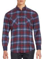 James Campbell Plato Plaid Point Collar Shirt