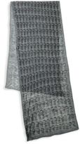 John Varvatos Wool Skull Patterned Scarf
