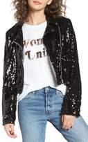 Obey Bigby Sequin Moto Jacket