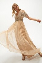 Thumbnail for your product : Coast Cold Shoulder Scattered Embellished Maxi Dress