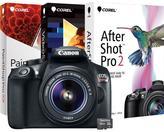 Canon EOS Rebel T6 18MP Digital Camera, 16GB MicroSD Memory Card and PC Treasures Digital Creative Suite 2.0