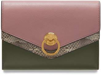 Mulberry Harlow Medium Wallet Mocha Rose Silky Calf and Ayers