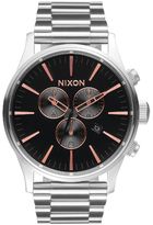 Nixon The Sentry Chrono Watch Grey/Rose Gold