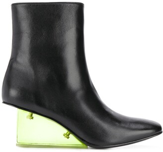 Nicole Saldaña Perspex Wedge Boots