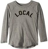 Tiny Whales Local Long Sleeve Raglan (Infant/Toddler/Little Kids/Big Kids) (Tri Grey) Kid's Clothing
