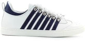 DSQUARED2 Low Sole White Denim Sneaker