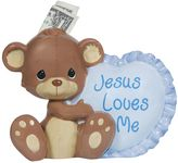 Precious Moments ''Jesus Loves Me'' Teddy Bear Bank