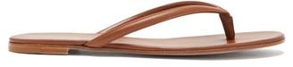 Gianvito Rossi Mid-strap Leather Sandals - Tan