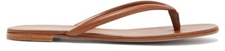 Gianvito Rossi Mid-strap Leather Sandals - Womens - Tan