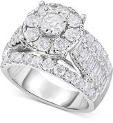 TruMiracle® Diamond Engagement Ring (3 ct. t.w.) in 14k White Gold