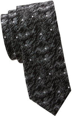 Nhp Textured Dot Silk Slim Tie