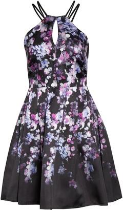Morgan & Co. Mikado Floral Fit & Flare Dress