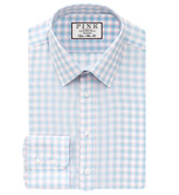 Thomas Pink Gerry Check Super Slim Fit Button Cuff Shirt