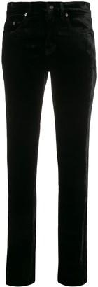 Saint Laurent Velvet High Rise Jeans