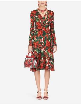 Dolce & Gabbana Portofino-Print Georgette Midi Dress