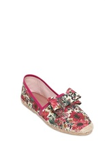 RED Valentino 10mm Floral Canvas Espadrille Flats