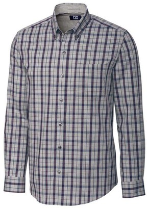 Cutter & Buck Men's Big and Tall Medium Plaid and Check Easy Care Button Down Collared Shirts