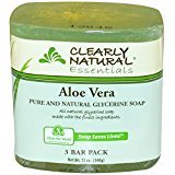 Clearly Natural Clearly Natural, Pure and Natural Glycerine Soap, Aloe Vera, 3 Bar Pack, 4 oz Each - 3PC