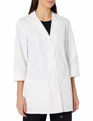 Cherokee Women's Professional Whites with Certainty and Fluid Barrier 30 Inch 3/4 Sleeve Lab Coat