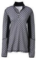 Lands' End Women's Active Half-zip Pullover-Silver Frost Geo