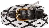 Tom Ford Crocodile-Trimmed Belt w/ Tags