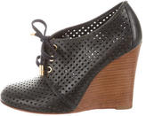 Tory Burch Perforated Lace-Up Wedges