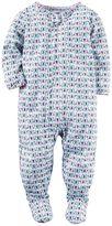 Carter's Baby Girl Scalloped Printed Footed Pajamas