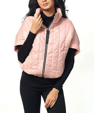 Anette Women's Non-Denim Casual Jackets Powder - Powder Short-Sleeve Puffer Jacket - Women & Plus