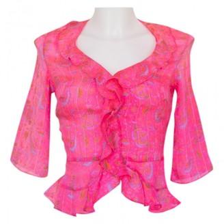 Calypso St. Barth Pink Silk Top for Women