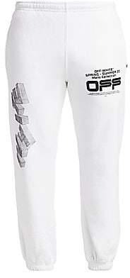 Off-White Men's Wavy Line Logo Sweatpants