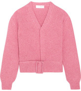 Victoria Beckham Belted Wool Cardigan - Pink