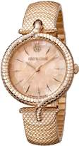 Roberto Cavalli SNAKE LUGS Women's Swiss-Quartz Stainless Steel Bracelet Watch