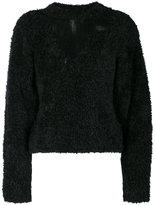 Off-White long-sleeved sweater - women - Polyamide/Mohair/Wool - 38