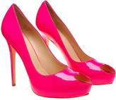 Heart peep toe shoe