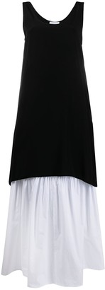 Societe Anonyme Layered Two-Tone Dress