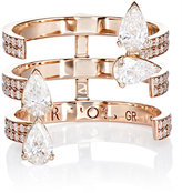 Repossi Women's Serti Sur Vide Triple-Band Ring
