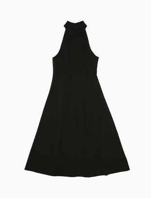 Calvin Klein Halter Neck Sleeveless Fit + Flare Dress