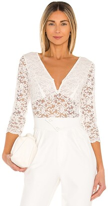 BCBGMAXAZRIA Stretch Lace Knit Bodysuit