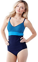 Lands' End Women's Coastal Spirit Tankini Swimsuit Top-Deep Sea Kinetic