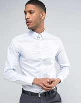 French Connection Semi Plain Birdseye Slim Fit Shirt
