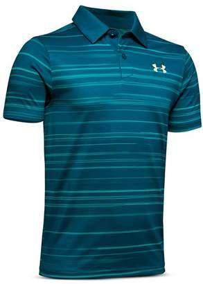 Under Armour Boys' Tour Tips Striped Polo Shirt - Big Kid