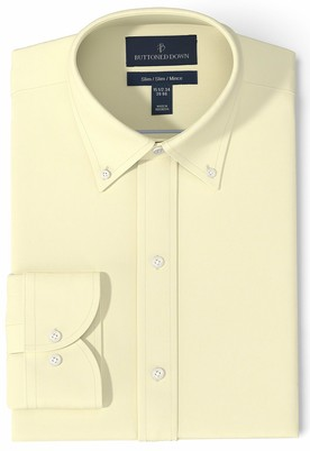 Buttoned Down Men's Standard Slim Fit Button-Collar Pinpoint Non-Iron Dress Shirt