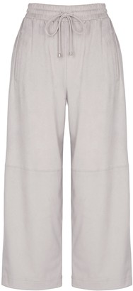 MAX MARA LEISURE Zaffiro Light Grey Faux Suede Trousers