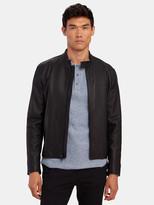 Vince Classic Leather Biker Jacket