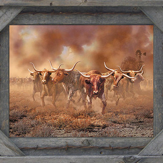 """My Barnwood Frames Barb Wire With Cornerblock Barnwood Picture Frame, 18""""x24"""""""