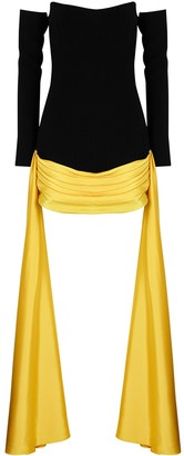 Nafsika Skourti Tap Dance black panelled mini dress
