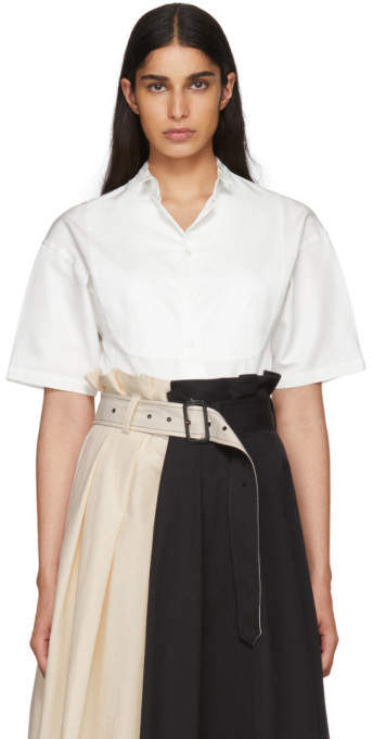 Beautiful People White Silk Gaba Tuxedo Shirt